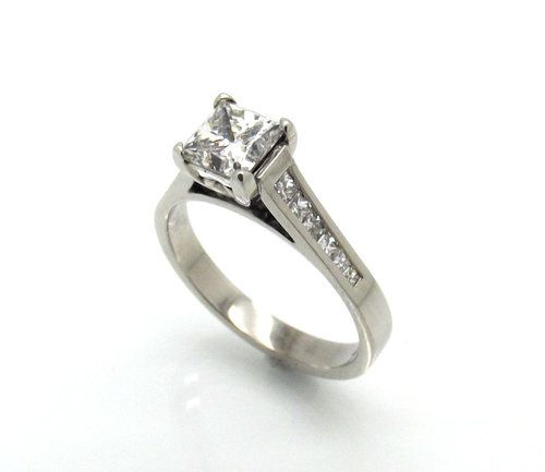 Handcrafted Princess Cut Diamond Ring