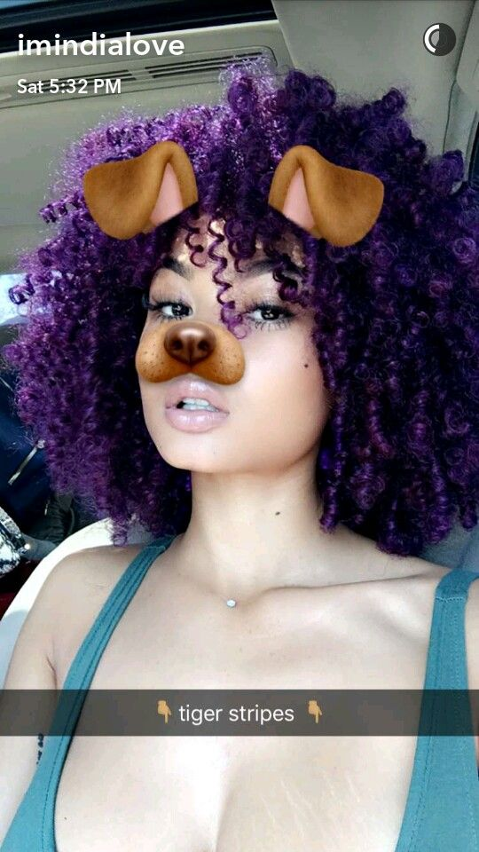Purple Curly Natural Hair ✨@OfficialTune