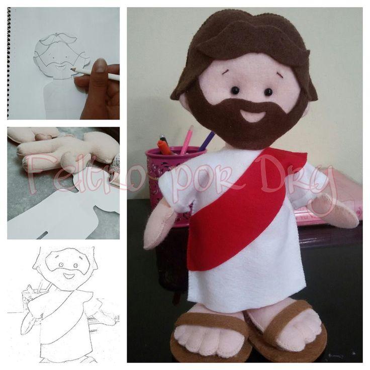 Boneco Jesus em feltro | Feltro por Dry | Elo7