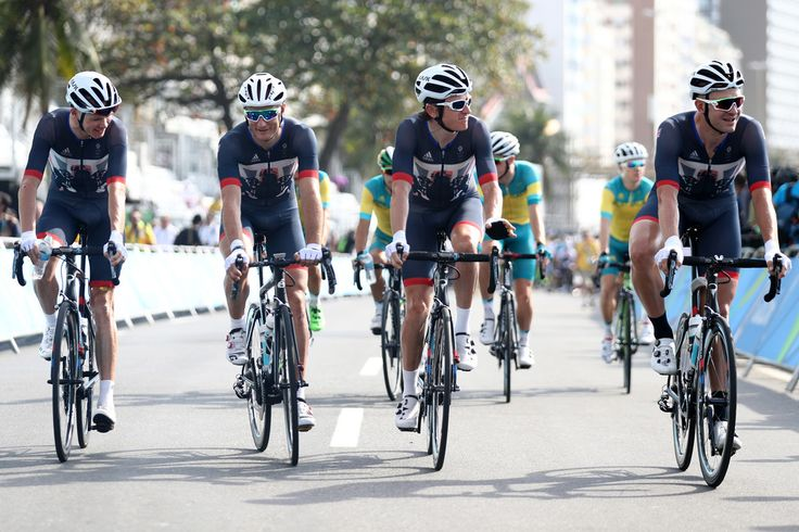 DAY 1:  Cycling - Men's Road - Christopher Froome, Stephen Cummings, Ian Stannard and Geraint Thomas of Great Britain