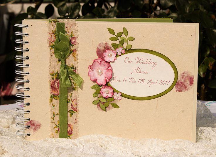 Vintage, Shabby Style, Wedding Album, Memory Book, Wedding Quest Book, Custom Memory Book, Wedding Photo Album, Honeymoon Memory Book by SBsPrintables on Etsy