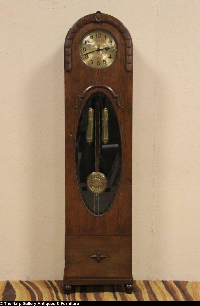 German Grandfather Clocks Sold Oak German 1910 Antique