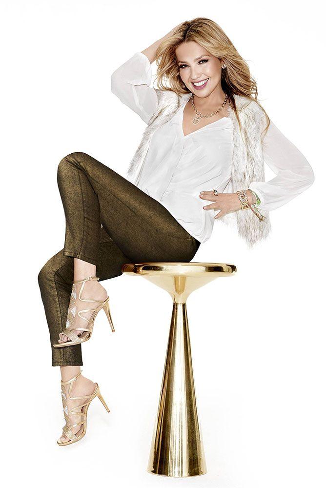 Thalia Sodi Faux Fur Vest