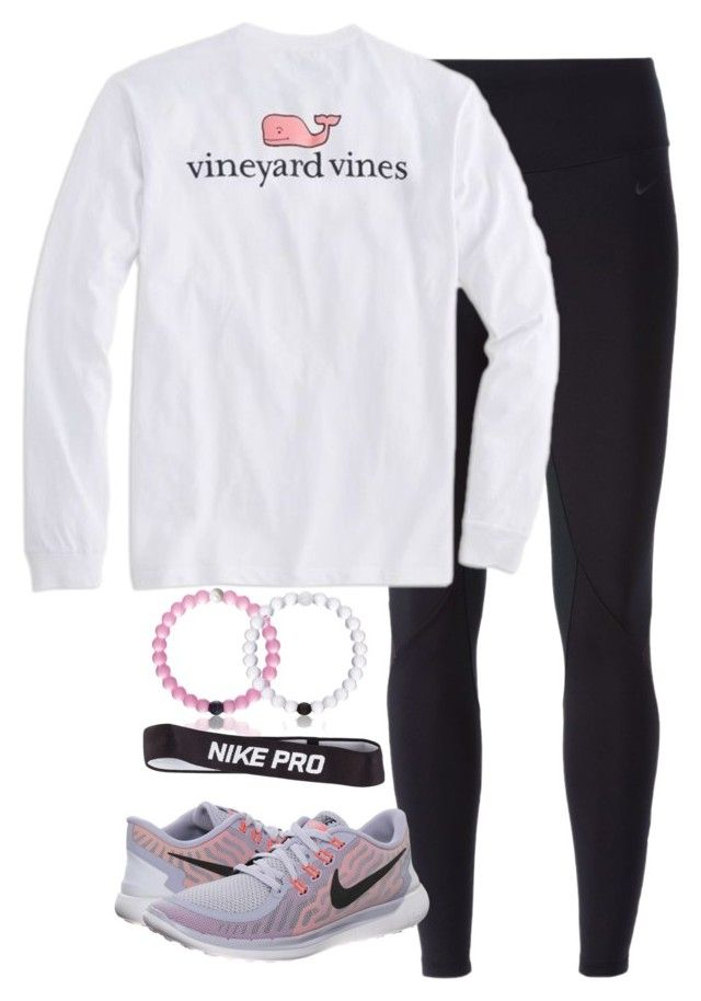 """Feeling sporty today"" by keileeen ❤ liked on Polyvore featuring мода, NIKE и Vineyard Vines"
