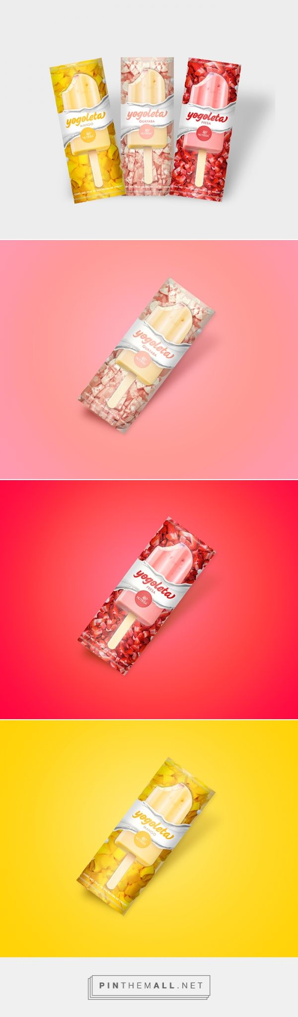 Yogoleta yogurt ice cream bars by Karen Santiago. Source: Daily Packaging Inspiration. Pin curate by #SFields99 #packaging #design