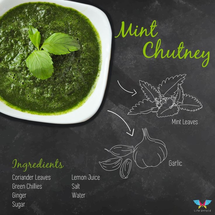 #Mint (Pudina) Chutney with ingredients