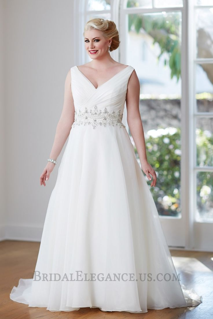 Romantic Organza A Line Gown With Beaded Waistline View Selection Of Our Bridal Wedding