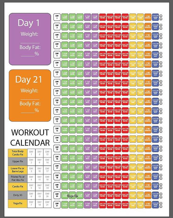 1200-1499 21 Day FIX check sheet by customvectorart on Etsy