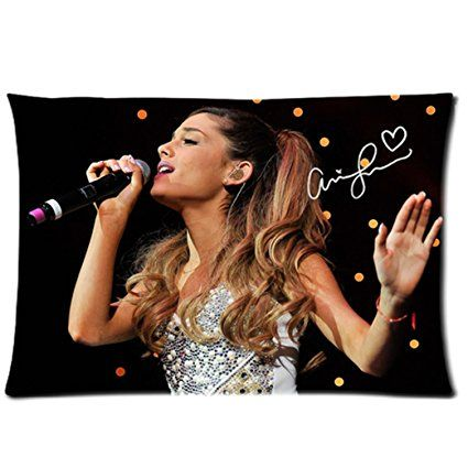 Amazon.com: Tt-shop Soft Zippered Pillowcase Pillow case Cover 20*30 Inch (Twin sides) Singing Ariana Grande Yours Truly Music Signature Pattern: Home & Kitchen