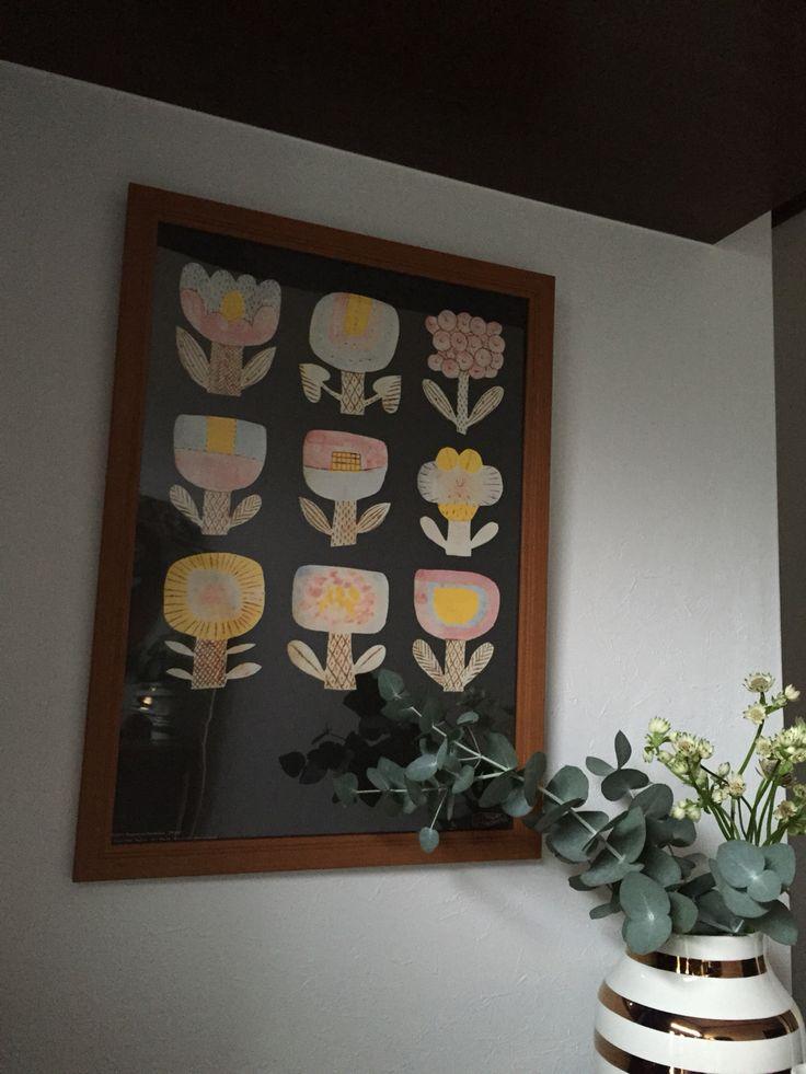鹿児島睦さんの図案ポスターと、ケーラーのアニバーサリーオマジオ。