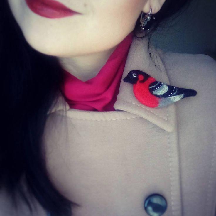 34 отметок «Нравится», 3 комментариев — Ольга Лихачева (@olqkalih) в Instagram: «#брошь #валяние #валянаяБрошь #снегирь #брошьручнойработы #ВашВаляш #ручнаяработа #felting…»