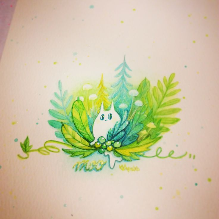 [ Moo ]in the mossy forest  Painting Instagram : KKAMoxo