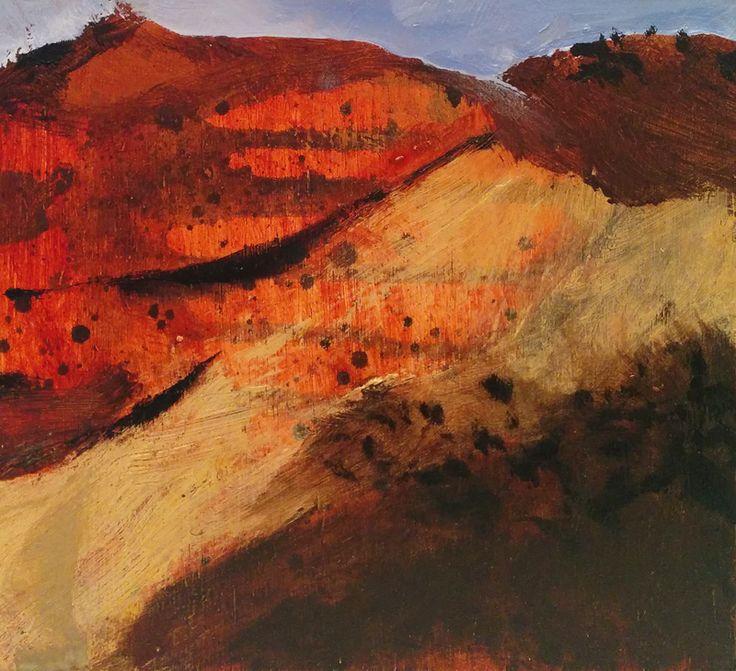 © Luke Sciberras ~ Desert Track ~ 2014 oil on board at Olsen Irwin Gallery Sydney Australia