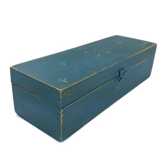 RUSTIC STORAGE BOX Remote Control Caddie Wooden by ShabbyShores