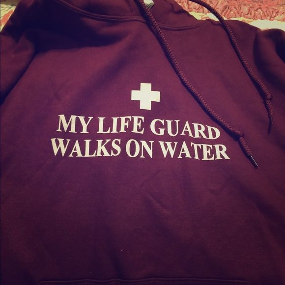 Christian hoodie❤️ I have these is S, M, L excellent quality and all brand new.. Ask me if your interested in another saying ..,I have many different ones and colors Tops Sweatshirts & Hoodies