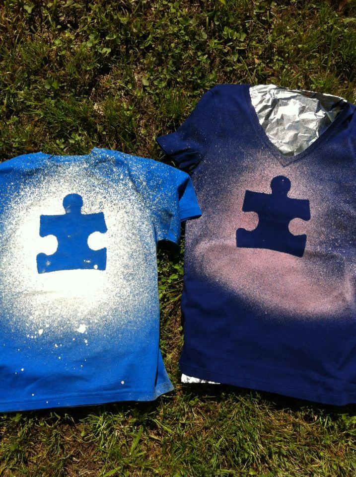 Cute for Light it up Blue..DIY t-shirt