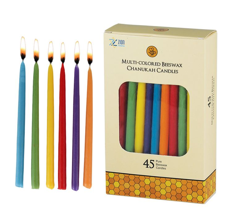 Beeswax Long Deluxe Hanukkah Candle