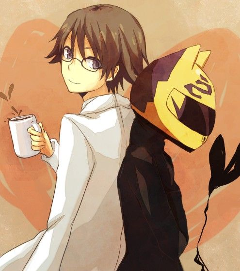 Shinra & Celty | Durarara!! #anime the wrong person has the coffee!