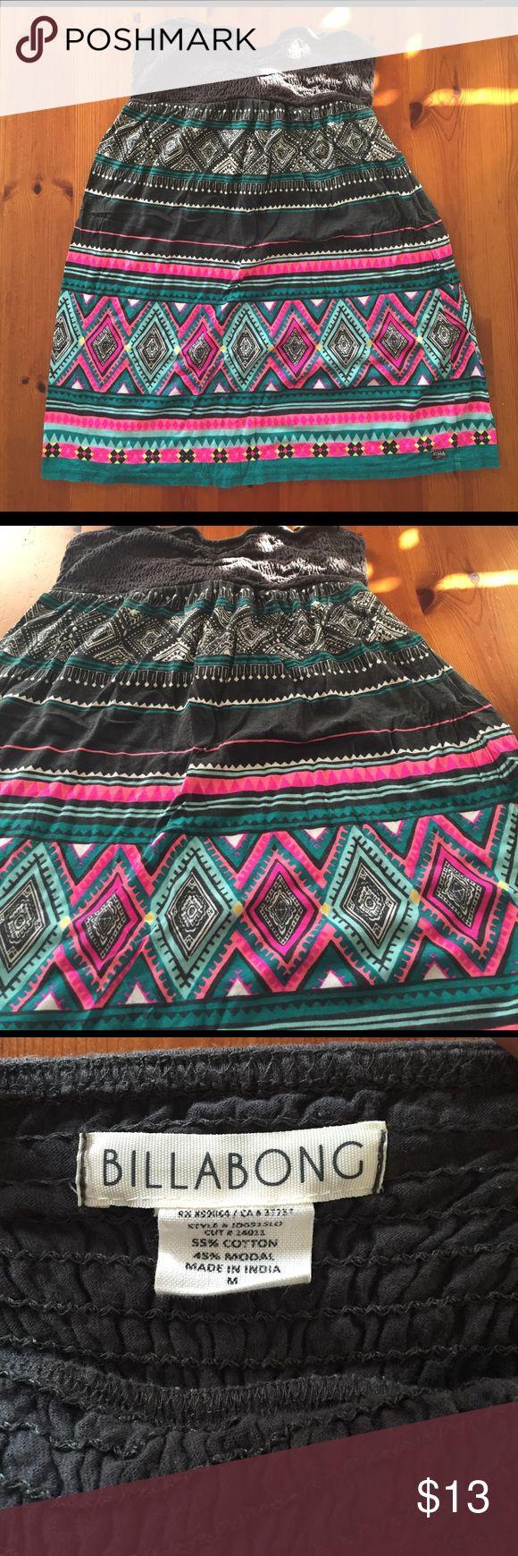 Billabong strapless summer tribal Aztec dress Billabong tribal Aztec print summer beach dress! Super cute, super comfortable! Billabong Dresses Strapless