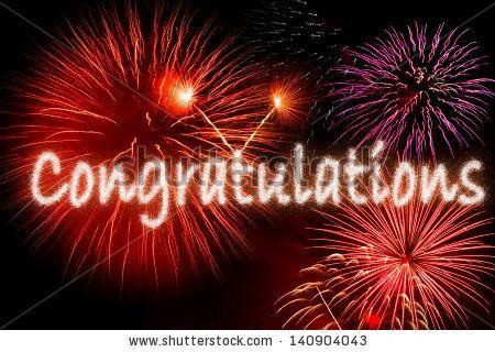 Congratulations Word Fireworks Stock Photo 140904043 - Shutterstock