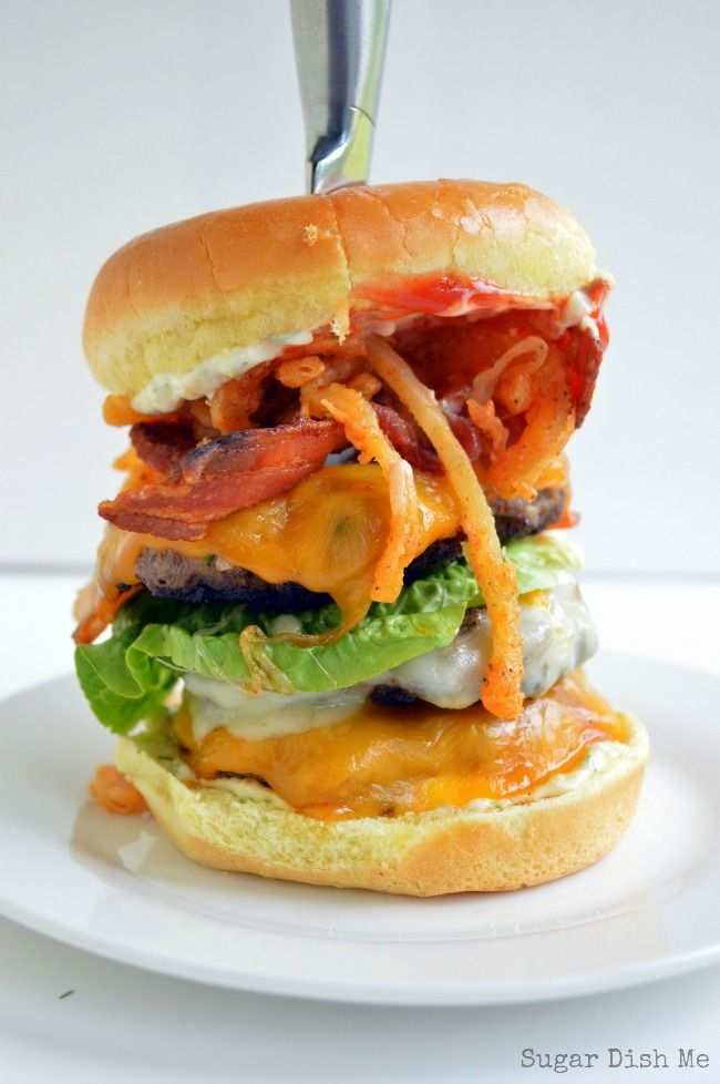 Paunch Burger Recipe - Parks and Recreation fans will love this one! Bring your own Child Size drink.