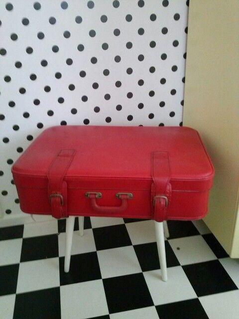 1000 idee n over vintage koffer tafel op pinterest koffer tafel koffer decor en hergebruikte - Tafel nachtkastje balances ...