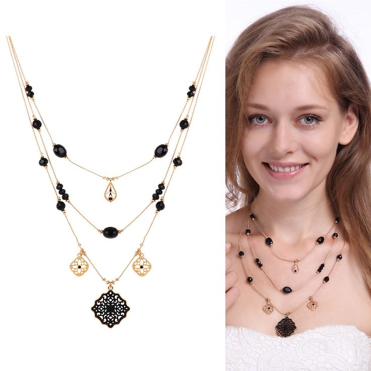 Bohemia Beads Multilayer Crystal Pendant Necklace For Women