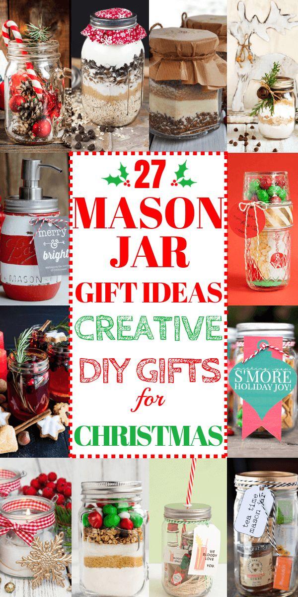Pinterest-Style Mason Jar Christmas Gift Ideas: 27 Gifts In A Jar!