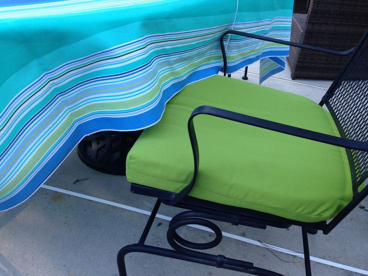 sunbrella patio cushions are kept out all summer yet the color remains vibrant and the fabric