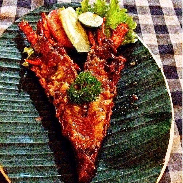 Grilled baby lobster #squaready #seafood #bali #legian #minirestaurant #kuta #lobster #baby