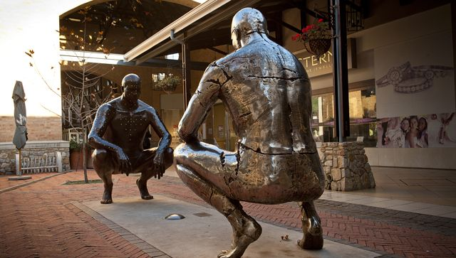 Angus Taylor - Public Art  [ Co-presence (Apollonian - Dionysian), Irene Village Mall, Centurion (2007) ]