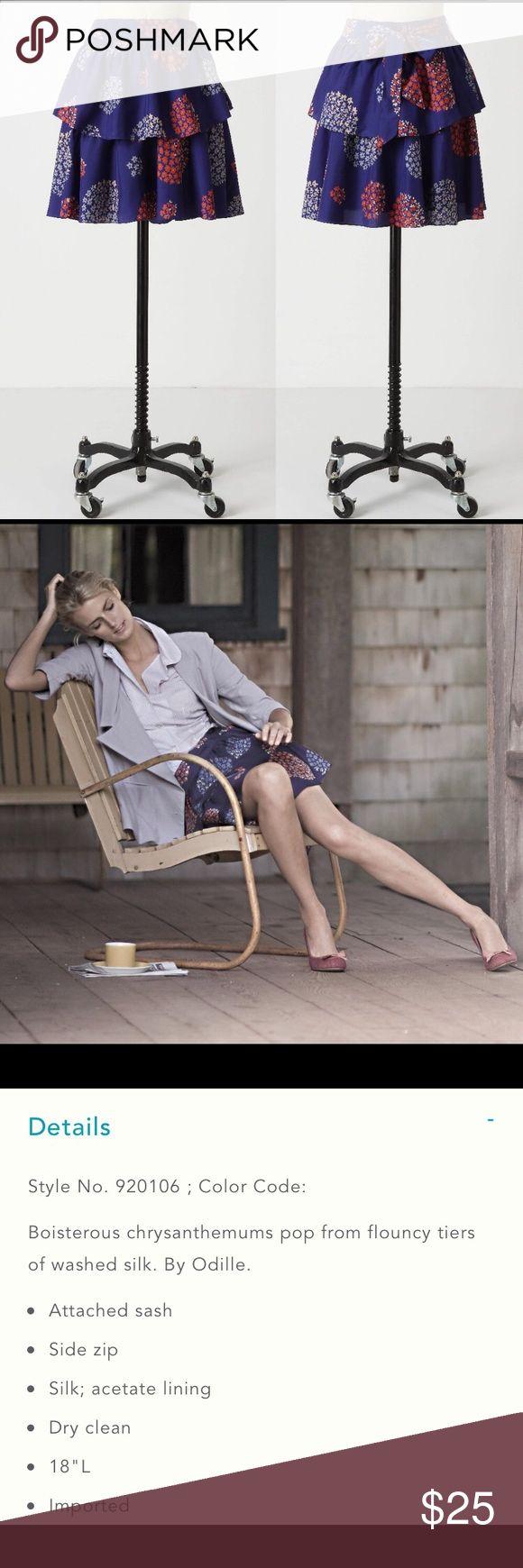 Anthropologie Odille Bold Felicia Floral Skirt Anthropologie Odille Bold Felicia…
