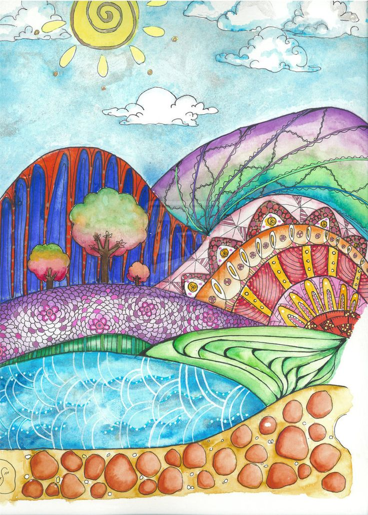 rainbow hills by cold-memory on DeviantArt