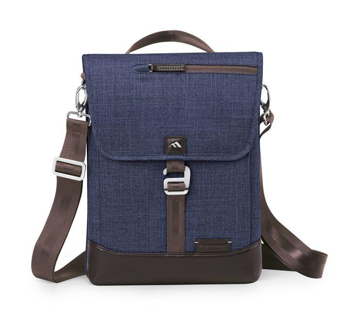 Collins Vertical Messenger bag - Indigo Chambray