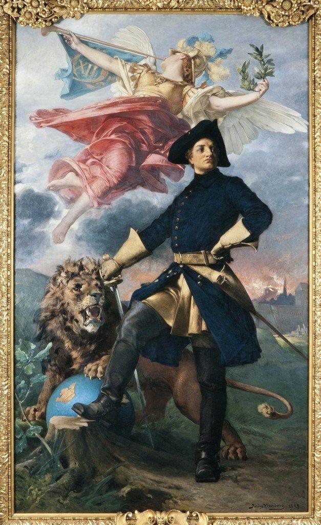 Portrait of King Charles XII of Sweden, Great Northern War, 1893 by Julius Kronberg (Swedish 1850-1921)
