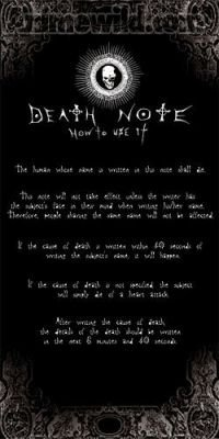 death note instructions pdf