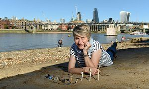 Lara Maiklem on the Thames foreshore