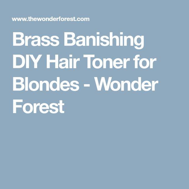 Brass Banishing DIY Hair Toner for Blondes - Wonder Forest