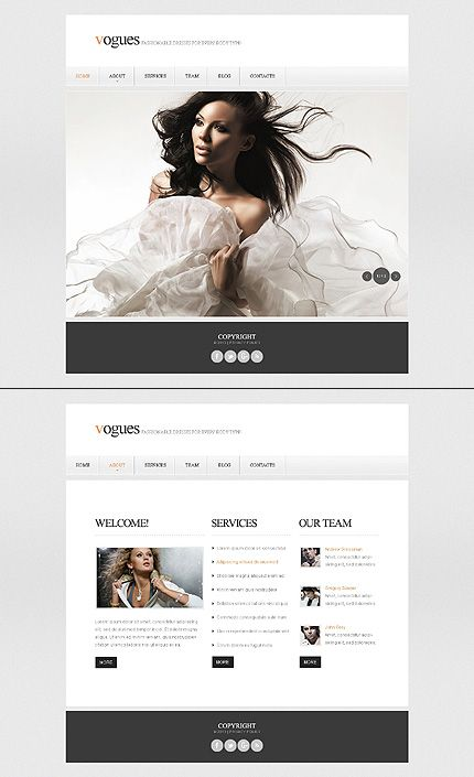 79 best one page website templates images on pinterest templates template 43429 vogues fashion website template pronofoot35fo Choice Image
