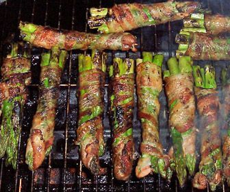 Low Carb Grill Bacon Wrapped Asparagus, low carb camping recipes