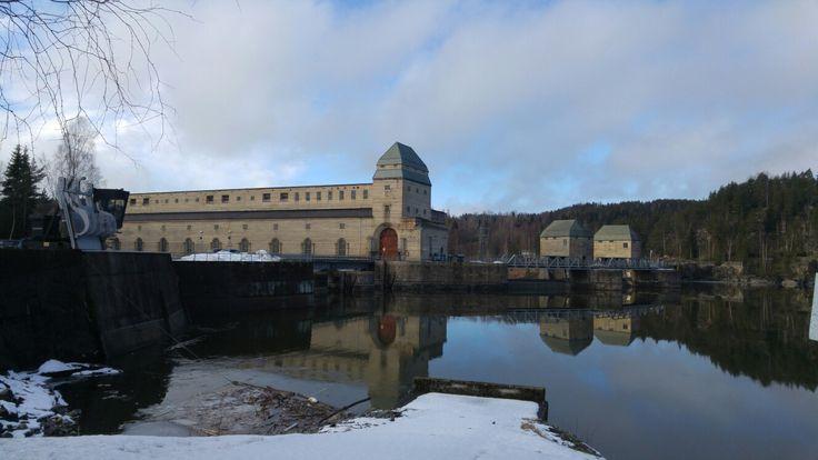 Solbergfoss 1, Power Station. Askim, Norway. Architect Bredo Greve, 1924.