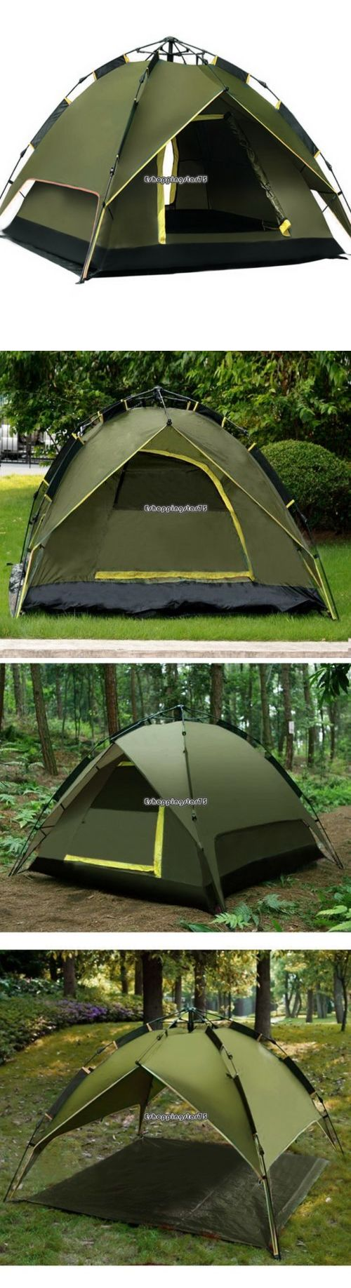 Tents 179010: Double Layer Rainproof Automatic Tent Outdoors Instant Camping Tent 2-4Person Us -> BUY IT NOW ONLY: $35.95 on eBay!