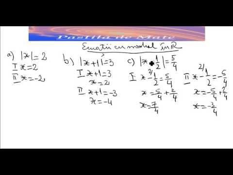 Ecuatii cu modul - YouTube
