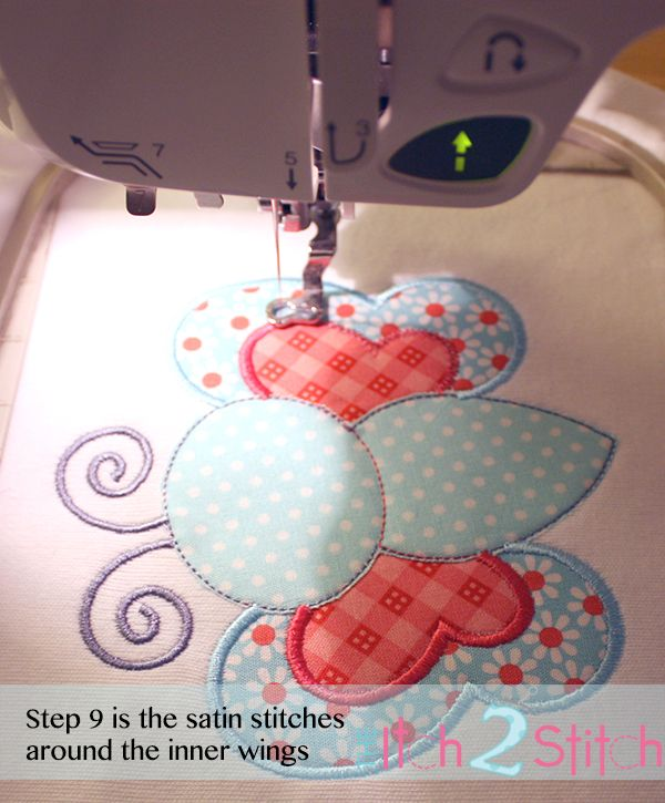 Embroidery appliqué tutorial and free design                              …