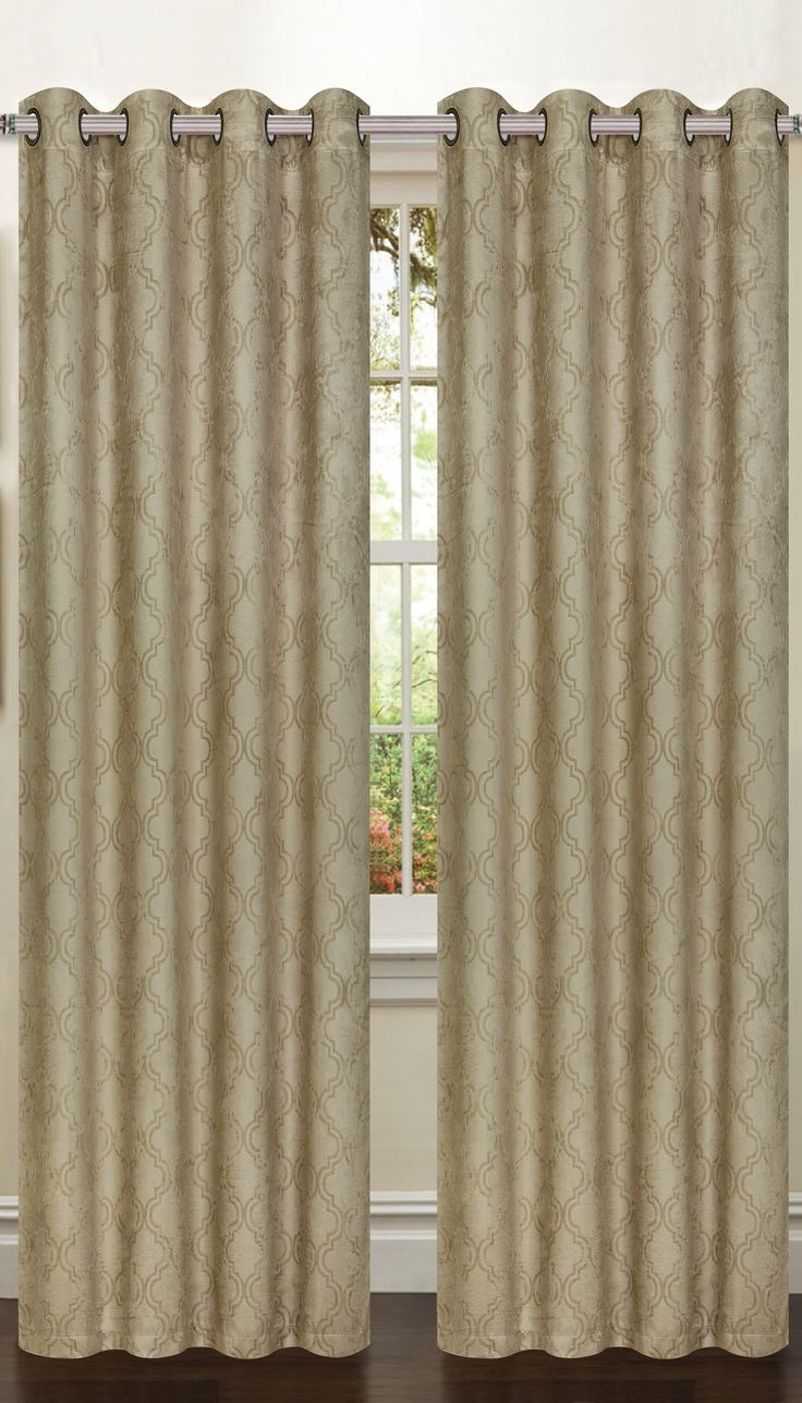 Newbury Lattice Room Darkening Extra Wide Curtain Single Panel  Extra Wide Curtain Panels
