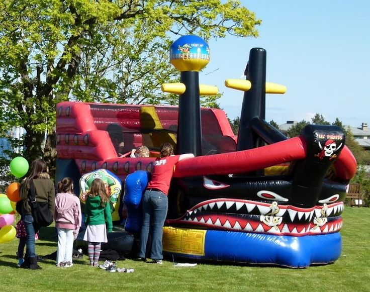 Bouncy Castle on Lawn