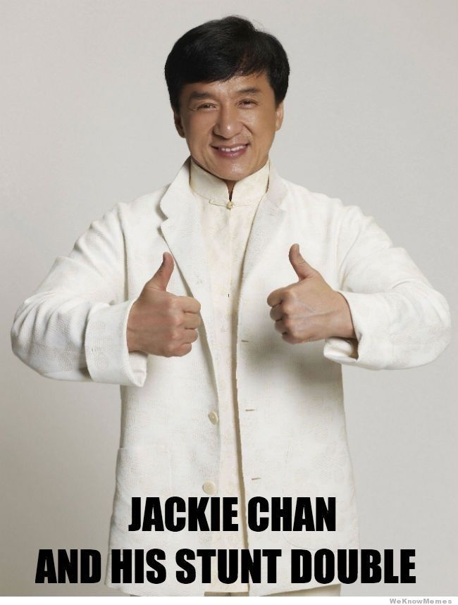 Jackie Chan And His Stunt Double