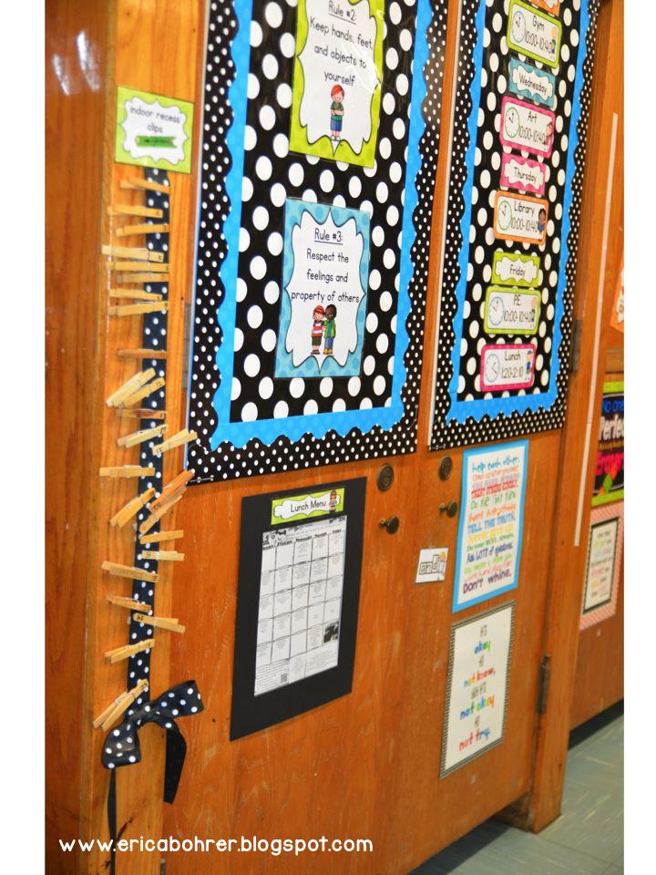 Classroom Decoration Black And White ~ Erica s ed ventures black white polka dot plus brights