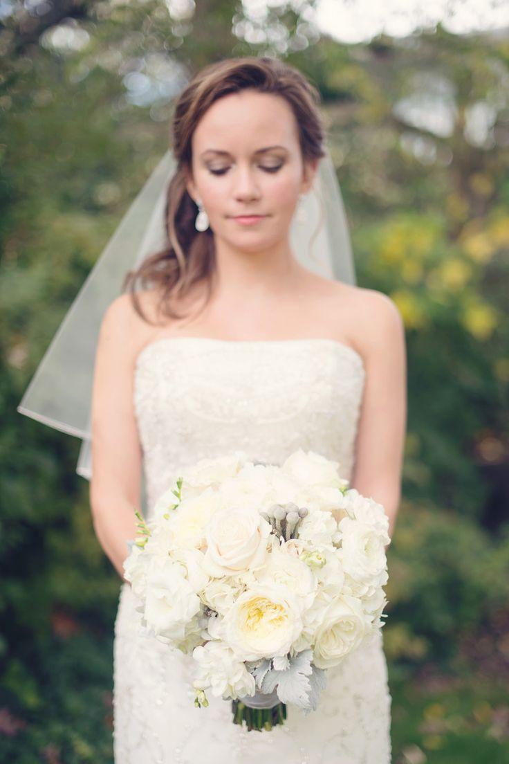 Classic white bouquet   Photography: Audra Wrisley - audrawrisley.com  Read More: http://www.stylemepretty.com/2015/05/27/black-tie-baltimore-library-wedding/