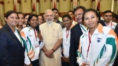 Narendra Modi meets Rio Olympics-bound athletes, wishes them luck (See Pics)